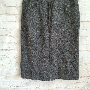 Talbots Pencil Wool Skirt